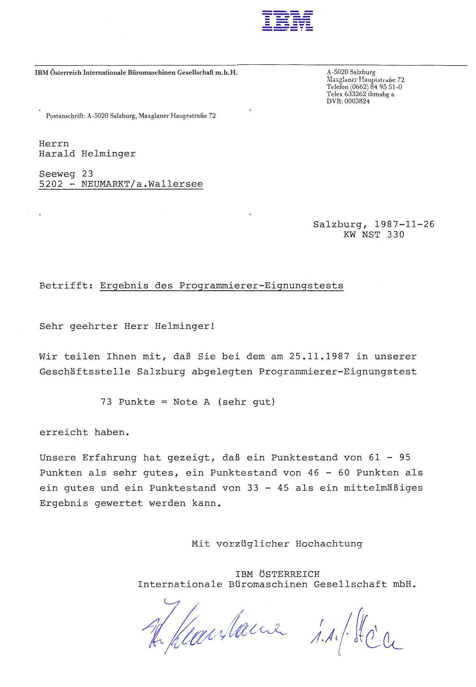 Fein Lebenslauf Cobol Programmierer Galerie - Beispiel Anschreiben ...